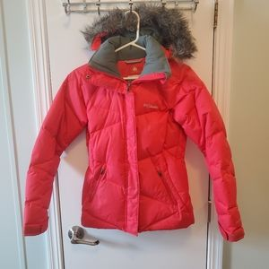 Columbia XS Women's Omni-Heat Winter Parka Red